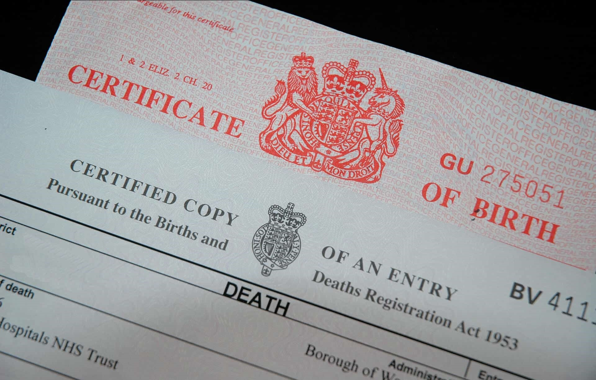 Death Certificate of a missing Person
