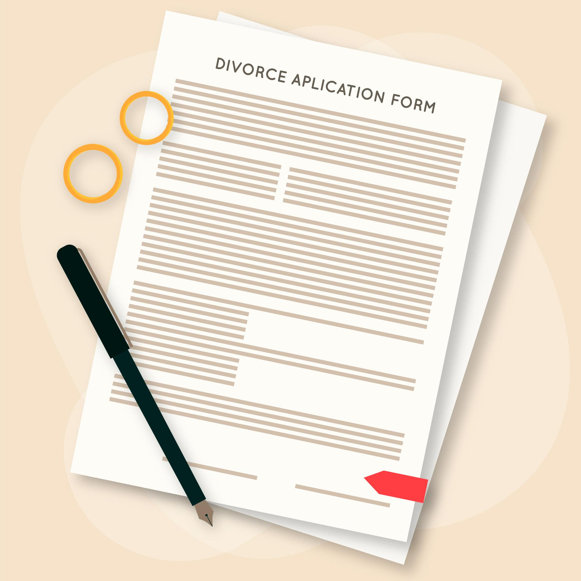 Documents required for filing a Divorce